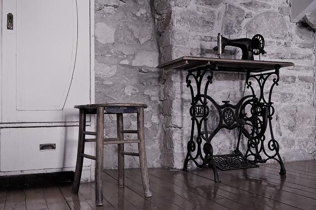 Croatia, Museum, Old, Sewing Machine, Antique, Stool