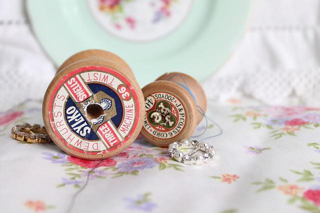 Vintage Spools, Vintage Thread, Vintage Cotton, Sewing
