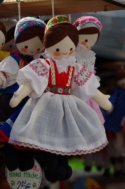 Dolls, Costume, Sewn