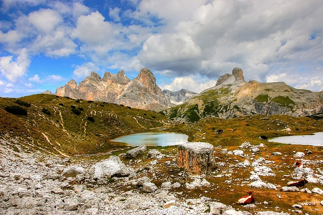 Dolomites Of Sexten, Mountains, Sexten Dolomites, Italy
