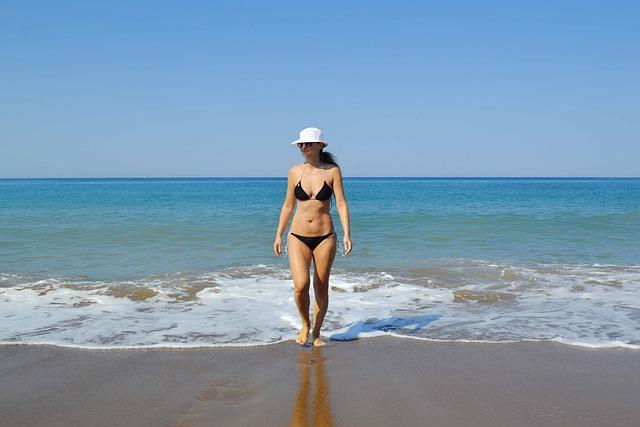 Girl, Woman, Seaside, Blue, Water, Sea, Sexy, White