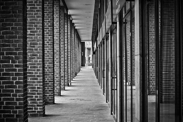 Architecture, Gang, Columnar, Building, Light, Shadow