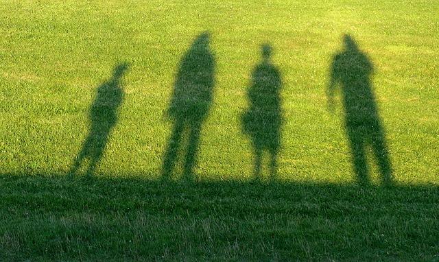 Travel, Family, Contour, Shadow, Man, Woman, Child