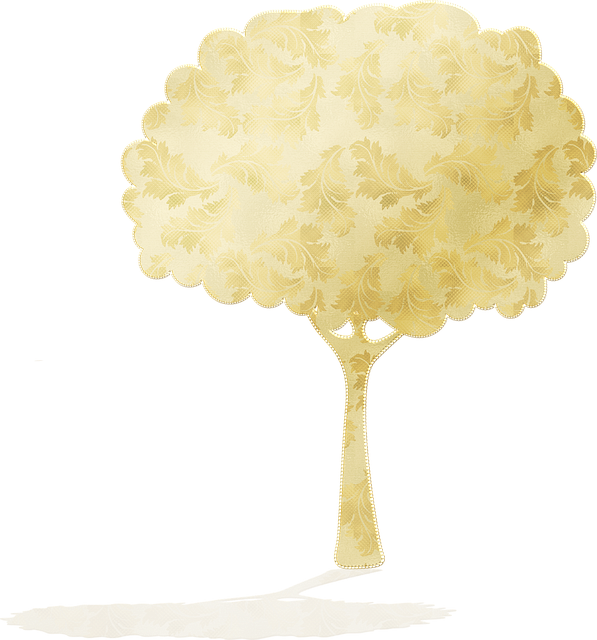 Tree Silhouettes, Shadow, Gold Foil, Nature, Trees