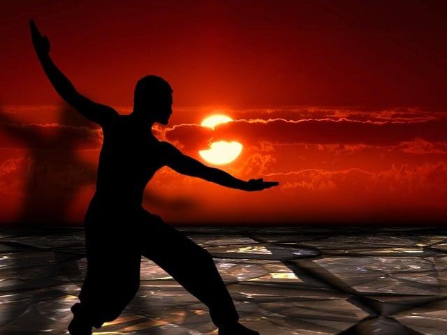 Martial Arts, Tai Chi, Silhouettes, Shadow, Meditation