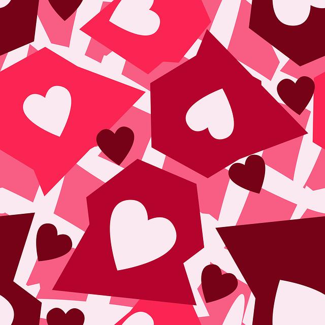 Pink, Hearts, Pattern, Love, Shape, Heart Shape