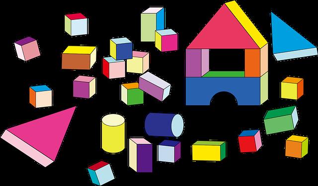 Building Blocks, Cubes, Cylinders, Prismatic, Shapes