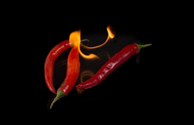 Fire, Chilli, Paprika, Food, Sharp, Red