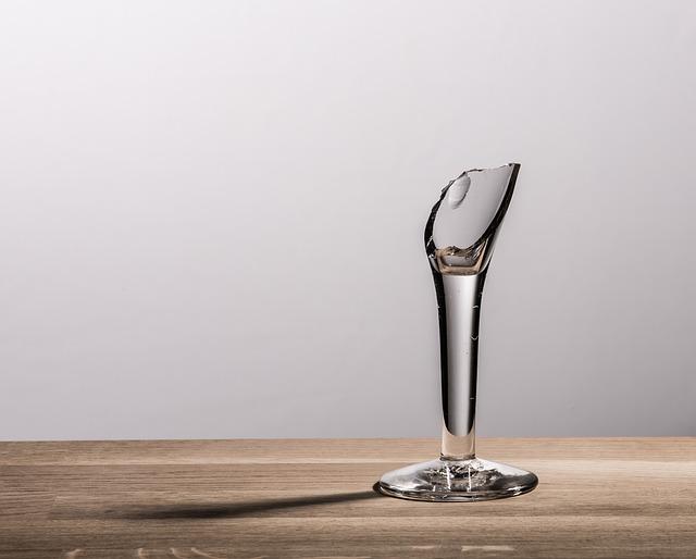 Glass, Broken, Shot, Reed, Sharp