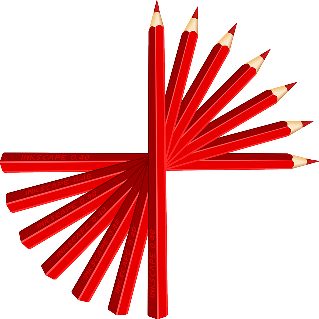 Pencils, Pens, Red, Drawing, Sharp, Crayon, Paint