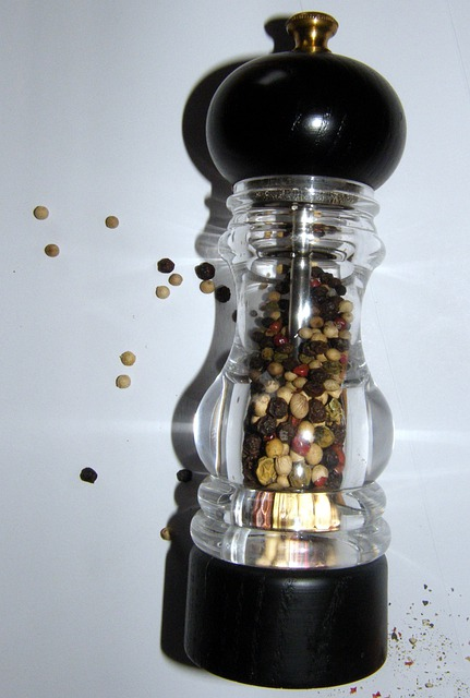 Pepper Mill, Pepper, Sharp, Grains, Spice, Colorful
