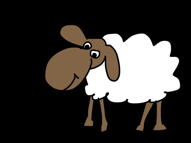 Sheep, Cartoon, Wool, Animal