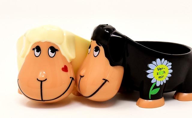 Sheep, Egg Cups, Funny, Cute, Forgive Me, Pair, Love