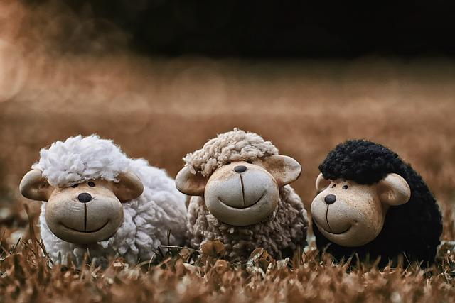 Sheep, Animals, Deco, Flock Of Sheep, Ceramic