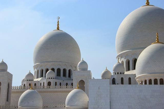 Sheihk Zayed Mosque, Abu Dhabi, Religious, Temple, Abu