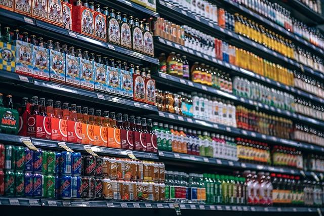 Beverages, Bottles, Shelf, Cans, Coke, Cola