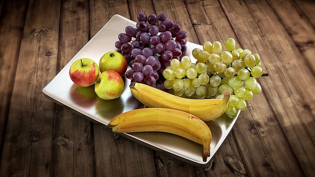 Fruit, Shell, Banana, Grapes, Apple, Metal Shell