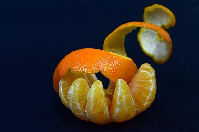 Mandarin, Shell, Fruit, Citrus Fruit, Vitamins, Food