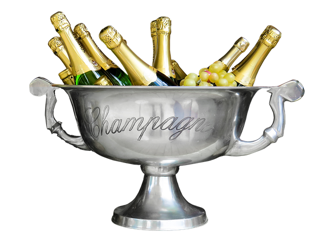 Champagne, Shell Metal, Celebration Drink, Cup Shots
