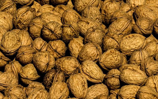 Nuts, Nut, Walnut, Shell, Decoration, Harvest, Market