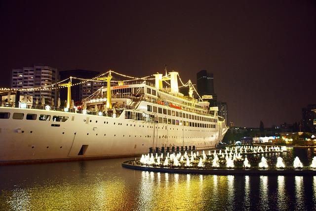 Shenzhen, Happy Coast, Steamship, Night View