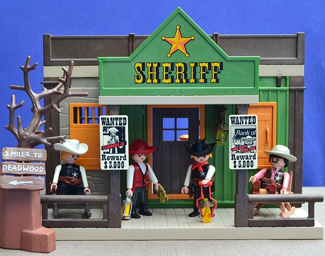 Playmobil, Western, Usa, Sheriff, Cowboys, Toys