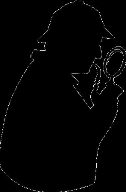 Sherlock Holmes, Detective, Magnifying Glass, Loupe