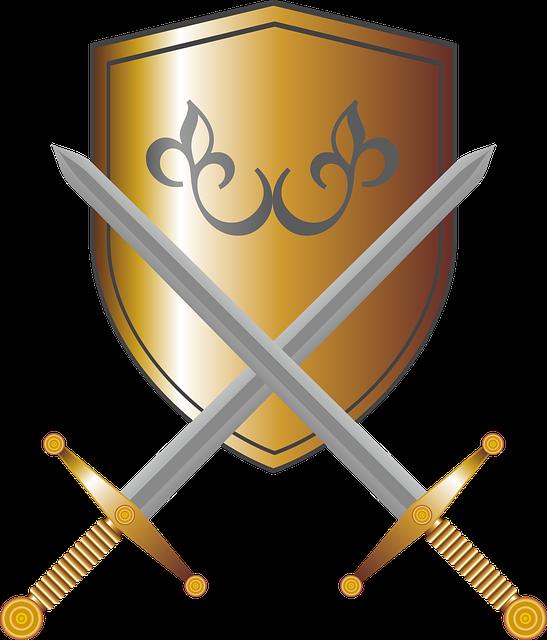 Coat Of Arms, Shield, Swords, Knight, Fantasy
