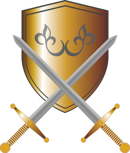 Coat Of Arms, Shield, Swords, Knight, Fantasy