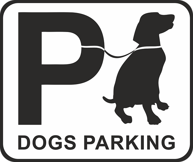 Parking, Dog, Dog Park Place, Shield, Note, Sign, Park