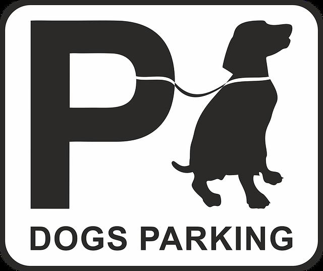 Parking, Dog, Dog Park Place, Shield, Note, Sign, Park