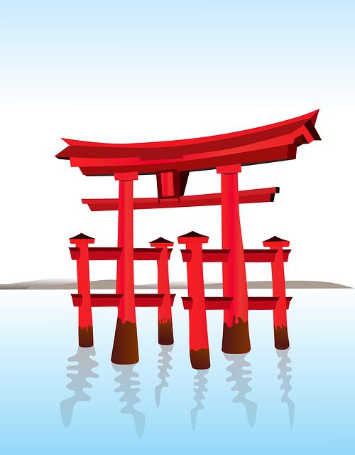 Shrine, Shinto, Japanese, Gate, Architecture, Icon
