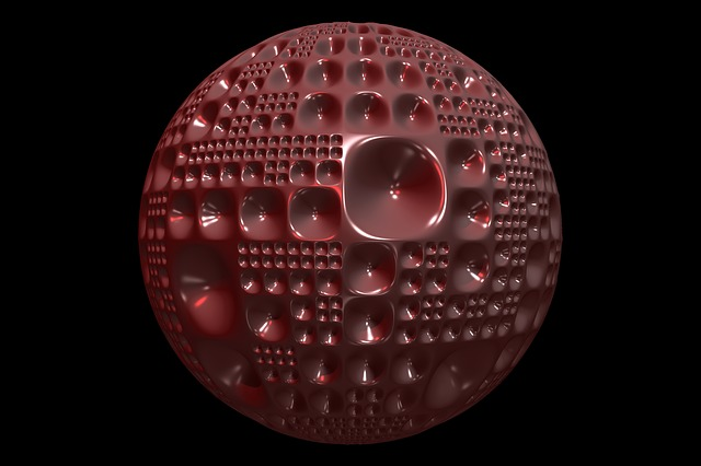 Sphere, Ball, Dimple, Texture, Shiny, Round, Glass, 3d