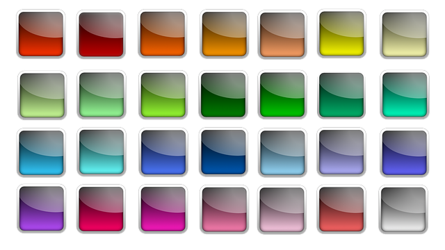 Button, Icon, Square, Colorful, Edge, Shiny