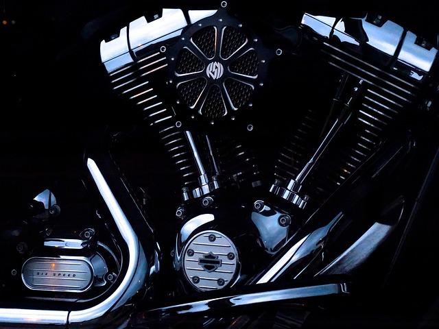 Motor, Motorcycle Engine, Motorcycle, Chrome, Shiny