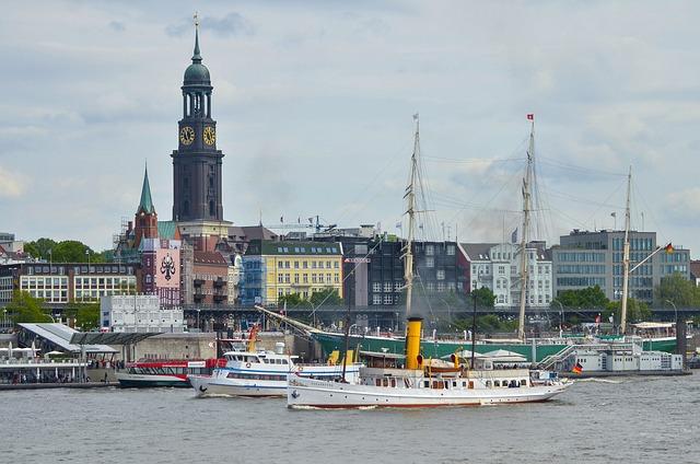 Hamburg, Port, Elbe, Ship, Port Of Hamburg