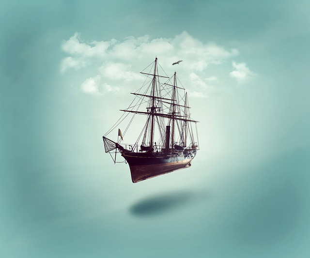 Photoshop, Manipulation, Fantasy, Ship, Cloud
