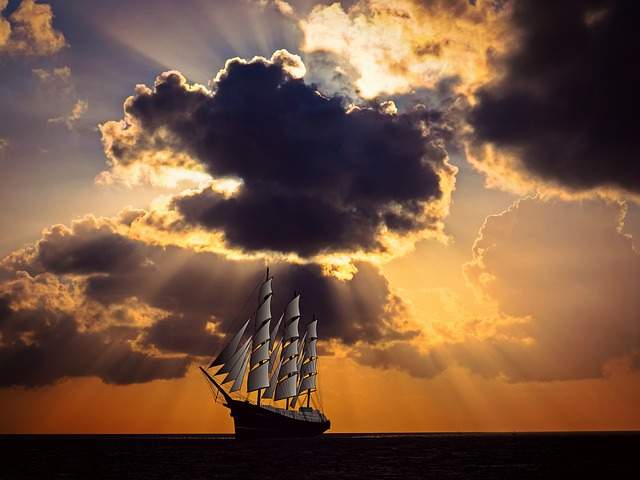 Sailing Vessel, Ship, Sail, Sea, Ocean, Shipping, Sky