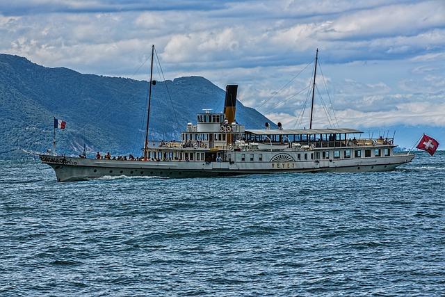 Beautiful Steam Ship, Paddle Steamer, Steamboat, Ship