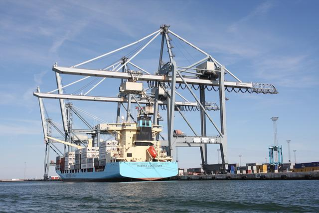 århus, Port, Ship, River, Water, Construction, Metal