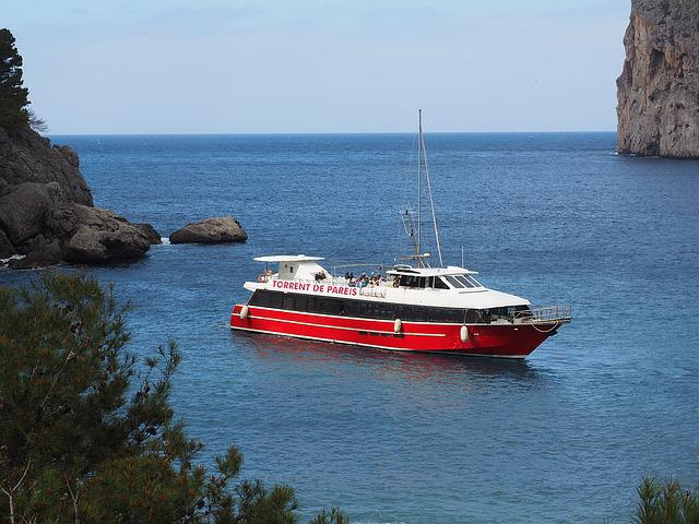 Ship, Booked, Sa Calobra, Bay Of Sa Calobra