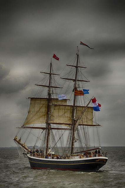 Watercraft, Sailboat, Ship, Sail, Frigate