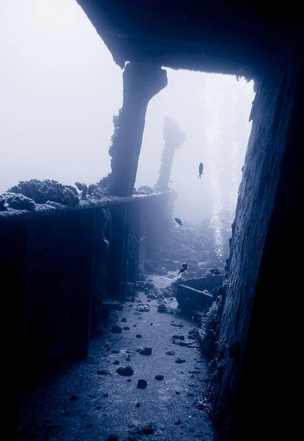 Wreck, Diving, Underwater, Water, Sea, Ship, Setting