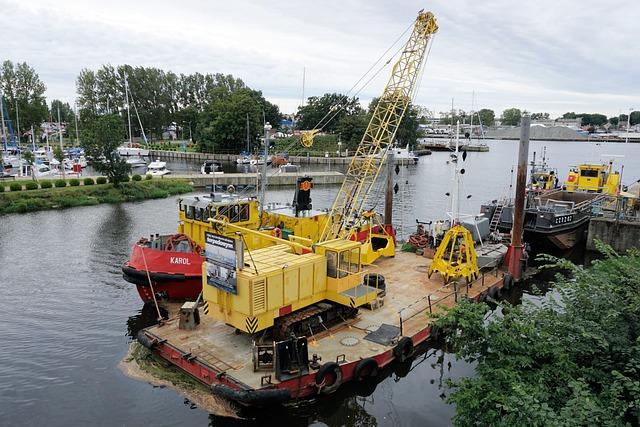 Ship Crane, Ship, Crane, Lifting Crane, Platform