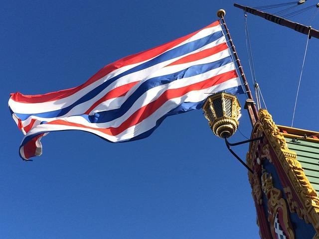 The Batavia, Waving Flag, Voc, Lantern, Ship