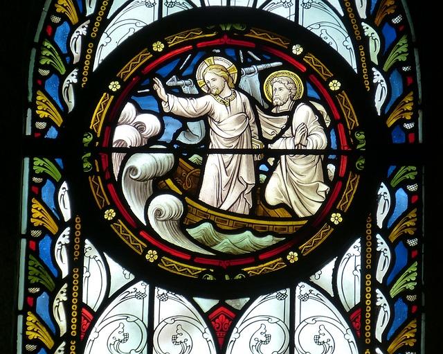 Church, Window, Church Window, Jesus, Ship, Boat