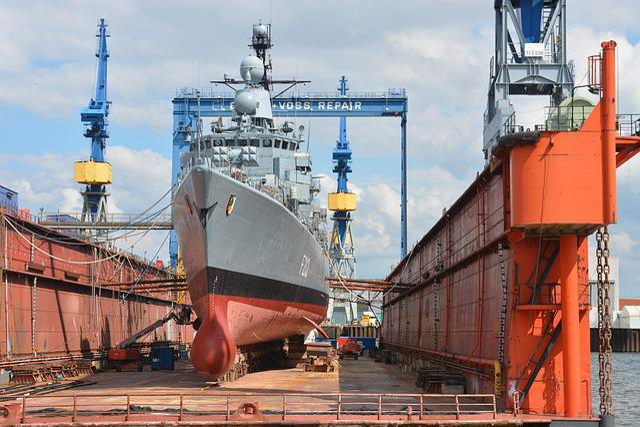 Shipyard, Shipbuilding, Repair, Bundeswehr, Hamburg