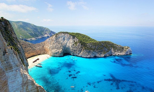 Zakynthos Greece Shipwreck Beach Coast Blue