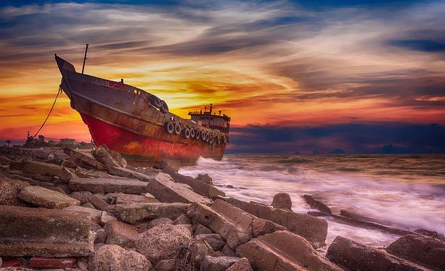 Shoreline, Shipwreck, Coastline, Shore, Wreck, Seashore
