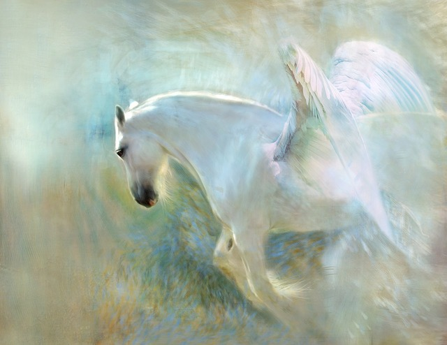 Angelic, Wings, Heavenly, Shire, Horse, Pegasus
